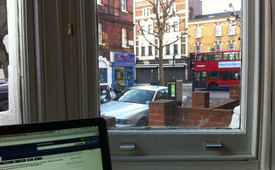 la mia finestra su Londra