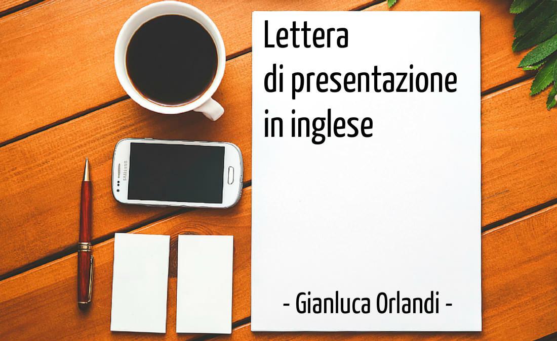 Traduzione Lettera di Presentazione in inglese