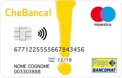 carta di debito conto corrente chebanca
